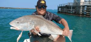 twitching lure shrimp redfish salt water