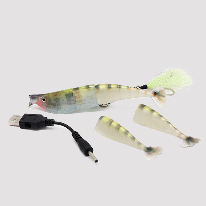 Twitching Lure Shrimp Green Camouflaged Tiger USB Accessories